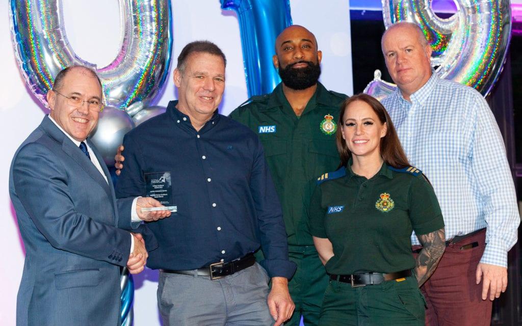 London Ambulance Service receiving their award from Kurt Hintz